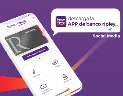 APP Banco Ripley Social Media