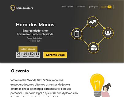 Landing Page - Hora das Manas