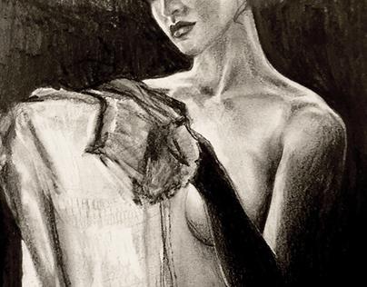 Femme à la robe blanche - Jean Baptiste Gouraud