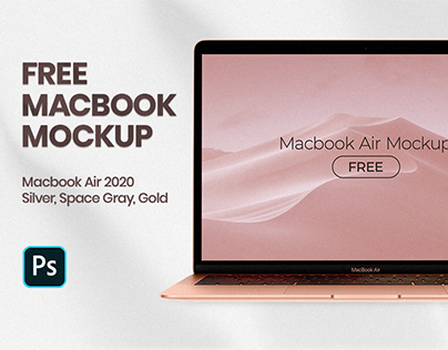 Free MacBook Air 2020 Mockup PSD