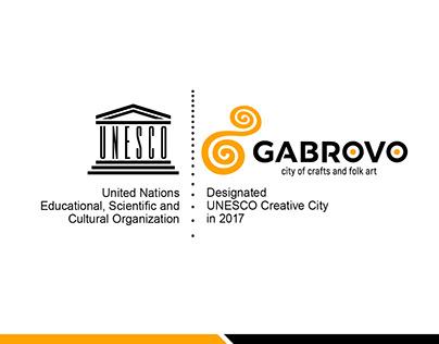 Gabrovo - creative cities / UNESCO logo contest winner