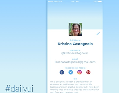 Daily UI Challenge Day 6: User Profile