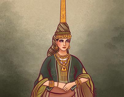 Lebanese girl with Tantour