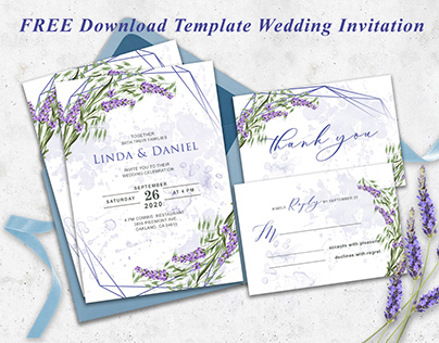 FREE Download Template Floral Wedding Invitation