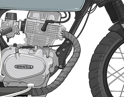 Honda CB400T Render