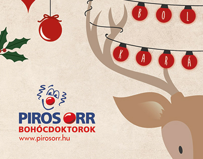 Christmas card for Red Noses Clowndoctors Hungary