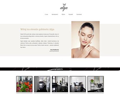 Rebranding for a beauty studio Alga