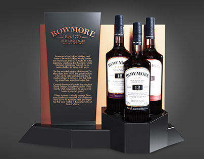 Bowmore - Bottle Displays