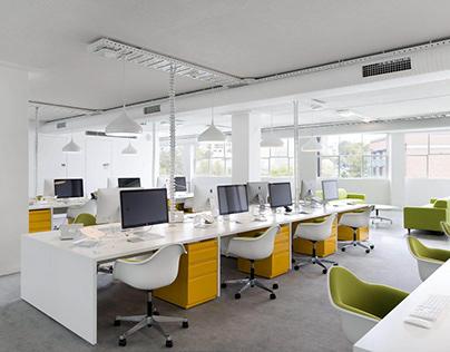 Mẫu thiết kế nội thất văn phòng bắt kịp xu hướng