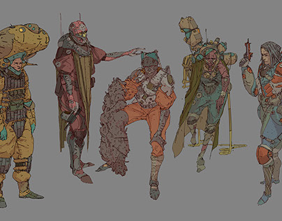 Sand troopers sketch concepts