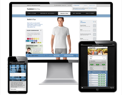 Men's Wearhouse : Tuxedo Redesign & Group Manager App