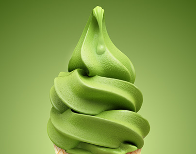 CGI Matcha ice cream