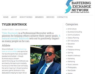 Bartering Exchange Network