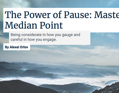 The Power of Pause: Mastering the Median Point