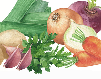 Watercolor Vegetables || Masgrave Group
