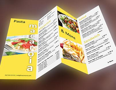 Modern Restaurant Menu Template