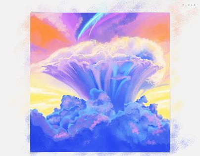 Repainted Cloudy Scene - 01A