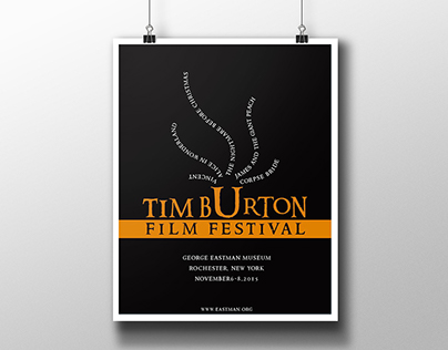 Tim Burton' Film Festival Poster Design