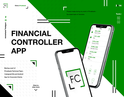 Financial application for IPhone