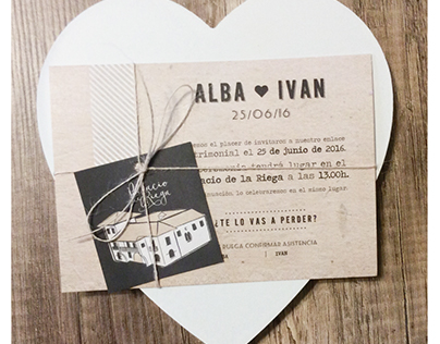 Wedding invitation, invitacion boda