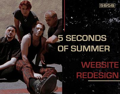 5 Seconds of Summer - Website Redesign