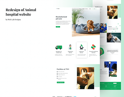 Redesign of an Animal Hospital website.