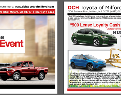 Postcards - DCH Toyota of Milford