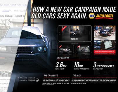 NAPA Old Car Commercials Campaign