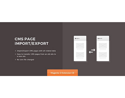 CMS Page Import/Export Magento 2 Extension