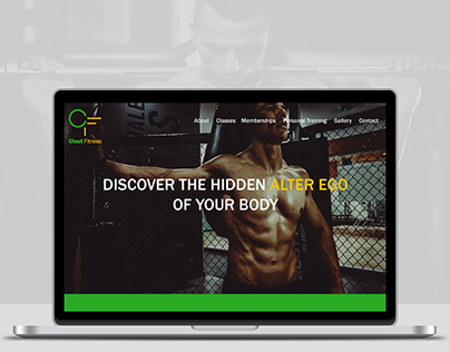 Clout Fitness Website Concept