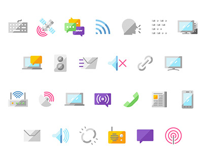 Flateo Communication icon set