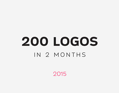 200 Logos in 2 Months | May - July 2015
