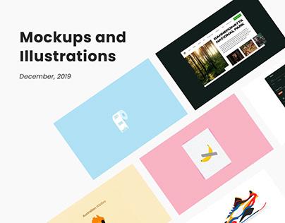 December Edition- Mockups and Illustrations