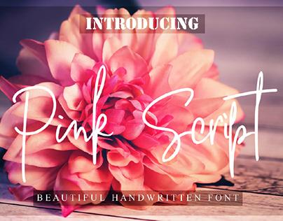 FREE   Pink Script Font