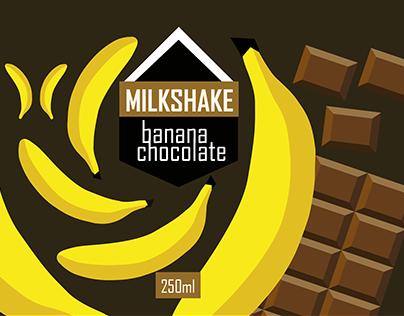 Package design for milkshake