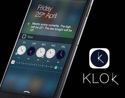 Klok iPhone widget