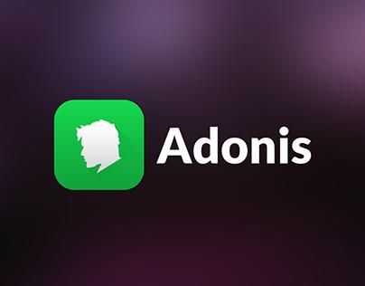 Adonis App Logo Design & Mockups