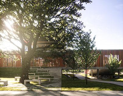 renders of the music school