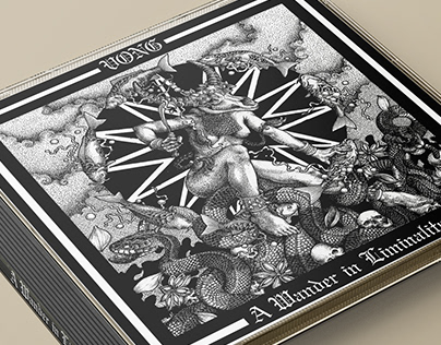 """Artworks for Vong's """"A Wander in Liminality"""" album CD."""