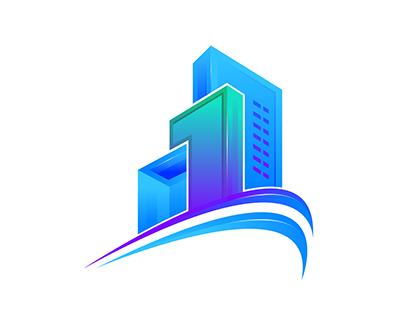 Construction 1 Logo branding