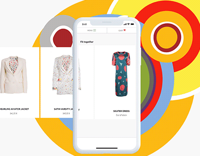 Sonia Delaunay - Concept of Online Clothes Store