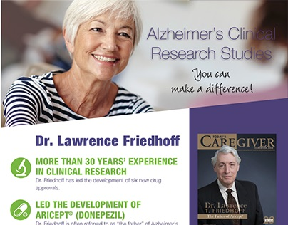 Layout & design for clinical advertisements