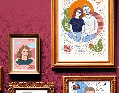 Portrait illustrations 2019