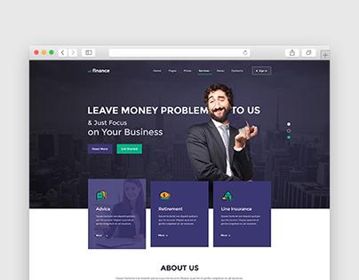 The Finance Services Premium WordPress Theme