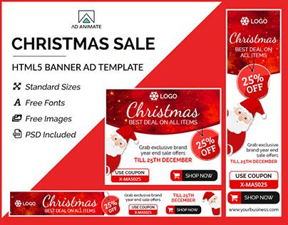 Christmas Sale Banner- HTML5 Ad Templates