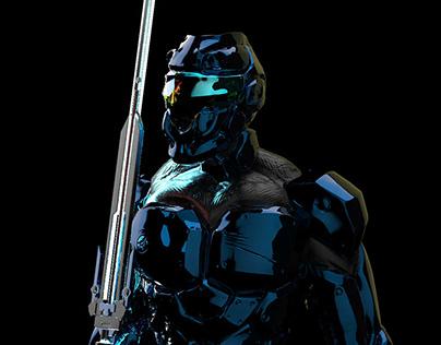 Esculpido 3D personaje Hard Surface