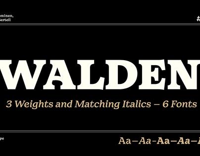 Walden Type Family