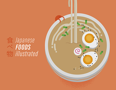 Japanese foods - Illustrations