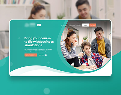 E-learning / education platform - Landing page