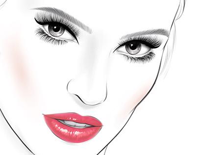 L'Oréal Paris cosmetics Face Chart